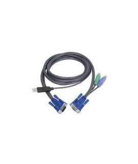 IOGEAR PS2 to USB Intelligent KVM Cable G2L5502UP (Black)