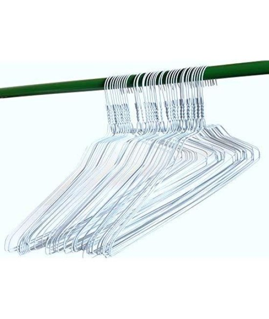 "100 Wire Hangers 18"" Standard White Clothes Hangers … (100)"