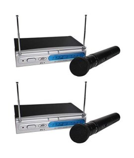 (2) Peavey PV-1 V1 HH 198.950MHZ VHF Series Wireless Handheld Microphone Systems