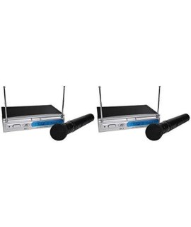 (2) Peavey PV-1 V1 HH VHF Wireless Handheld Microphones (Dual Mic System)