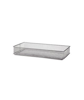 Design Ideas Mesh Drawer Store, Silver, 6 by 12-Inch