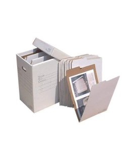 "Vertical Flat File System Filing Box Size: 20"" H x 14"" W x 12"" D"