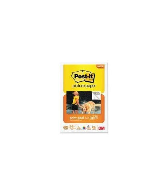 "3M Post-it Sticky Picture Paper - 4"" x 6"" - 65 Sheet - White"