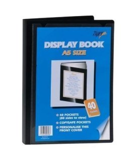 Tiger Presentation Display Book A5 40 Pockets [Pack 1]