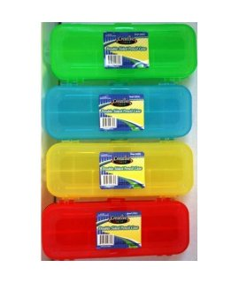 CREATIVE COLORS PLASTIC PENCIL BOX