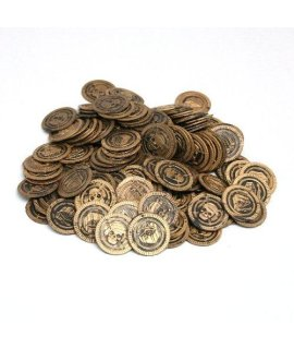 Fun Express Pirate Party Favor Gold Play Coins 144pieces