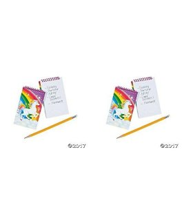 Unicorn Spiral Notepads - 12 ct