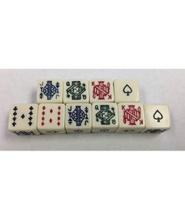 (10) Six Sided Poker Dice Brand New No Dice Cup