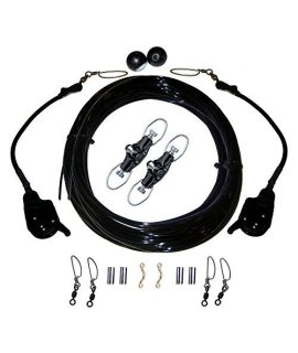 Rupp Single Rigging Kit W/Lok-Ups & Nok-Outs - 160 Black Mono