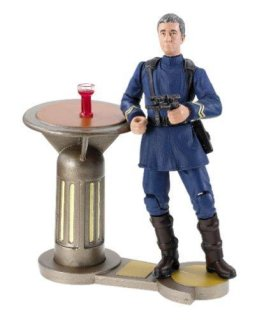 Star Wars Attack Of The Clones Coruscant Outlander Club Lt. Dannl Faytonni W/Bar Table Stand, Glass & Blaster
