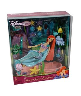 Disney Princess  Salon And Spa Playset For Forever Hair Ariel Doll