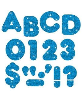 "TREND enterprises, Inc. Blue Sparkle 4"" Casual UC Ready Letters"