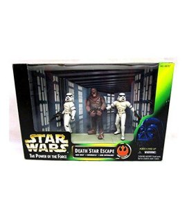 Star s: Power of the Force Han and Luke in Stormtrooper Disguise with Chewbacca as Prisoner Cinema Scenes Death Star Escape Action Figure Multi-Pack