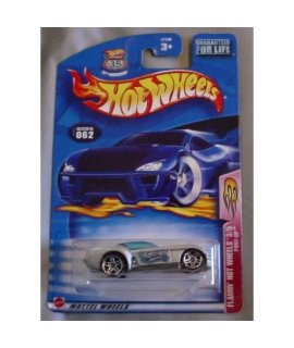 Hot Wheels 2003 Flamin Hot Wheels Pony-Up 3/5 SILVER 62 062 1:64 Scale