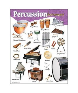 "TREND enterprises, Inc. Percussion Instruments Learning Chart, 17"" x 22"""