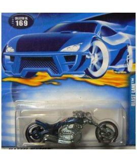 #2001-169 Blast Lane Blue Chrome Engine Collectible Collector Car Mattel Hot Wheels
