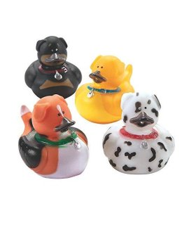 Fun Express - Dog Rubber Duckies - Toys - Character Toys - Rubber Duckies - 12 Pieces
