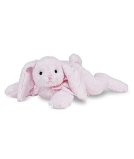 Bearington Baby Cottontail Plush Stuffed Animal Pink Bunny with Rattle, 8 inches