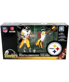 Pittsburgh Steelers 2-Pack Ben Roethlisberger White Jersey and Santonio Holmes White Jersey McFarlane