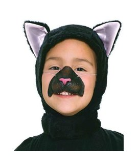 Forum Novelties Child Size Animal Costume  Black Cat Hood And Nose Mask