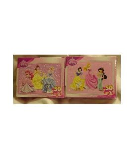 Disney Princess 50 Piece Mini Puzzles  Set Of 2