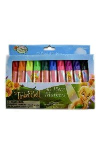 Disney Tinkerbell Markers - 10 Pack Vivid Bright Markers [Toy]