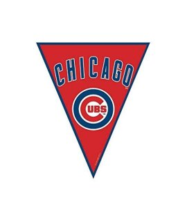 """Chicago Cubs Major League Baseball Collection"" Pennant Banner, Party Decoration"