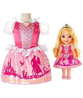 Disney Princess Aurora Toddler Doll & Girl Dress Gift Set