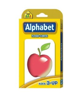 20 Pack SCHOOL ZONE PUBLISHING ALPHABET FLASH CARDS