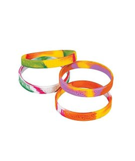 Walking with Jesus Silicone Bracelets (12 Pack)