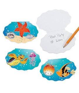 Tropical Sea Life Notepads (24 Units) Paper. 4 5/8 35 Pages.