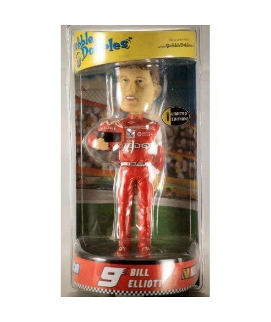 2002 - Alexander Global Promotions  Evernham Motorsports - NASCAR - Bobble Dobbles - Bill Elliott #9 - Numbered  Limited Edition Bobble Head - Approx 9 Inches Tall - Hand Crafted  Hand Painted - Very Rare - Out of Production - Collectible
