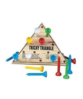 Wooden Tricky Triangle Game [Toy] by DDI