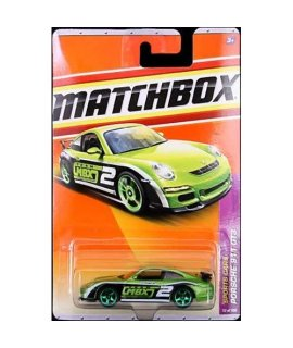 2011 Matchbox Porsche 911 GT3 Green/Black #12 of 100