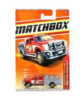 2011 Matchbox Ford F-550 Super Duty Fire Truck Red/Gray #50 of 100