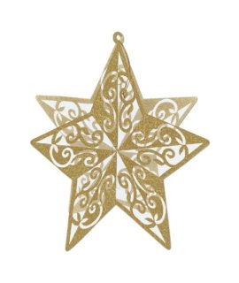 3-D Glittered Star Centerpiece (gold) Party Accessory  (1 count) (1/Pkg)