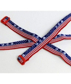 Usa Woven Friendship Bracelets (1 Dozen)  Bulk