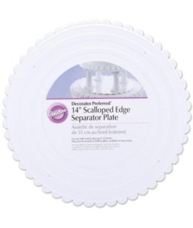 Wilton 14 Inch Scalloped Edged Round Separator Plates