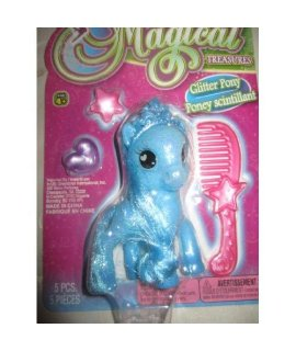 -Magical Treasures Glitter Pony 5pcs.