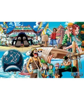 (1000 Pieces) One Piece - Sea Route (50×75cm) Jigsaw Puzzle