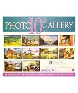 10 Deluxe Photo Gallery Assorted Jigsaw Puzzles 5600 Total Pieces