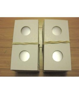 100 2X2 Premium Cardboard Coin Holders Nickel (21.2 mm. window)