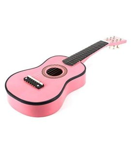 23 Inch Pink Acoustic Toy Guitar for Kids - && DirectlyCheap(TM) Translucent Blue Medium Guitar Pick