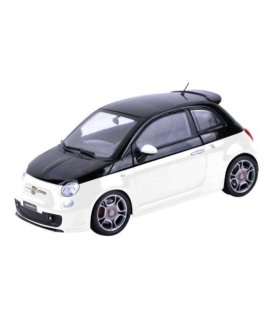 Fiat Abarth 500 White/Black 1/18 by Motormax 79168