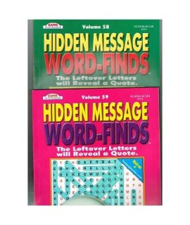 Hidden Message Word-Finds Set of 2, Volumes may vary (See Seller Comments for Volumes) by Kappa