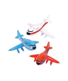 1 Dozen 24 Inflatable Airplanes/Jet/747/Inflates/Plane/Birthday Party Decorations Favors/Decor/