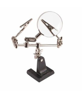 1 X Helping Hands with Magnifying Glass and 2 Adjustable Clips