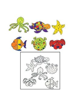 Under the Sea Suncatchers (24 Pack) Plastic