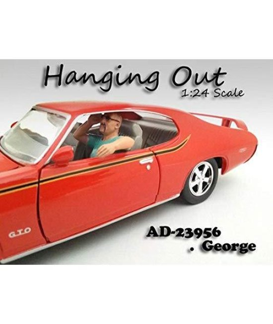 """Hanging Out"" George Figure For 1:24 Scale Models by American Diorama 23956"