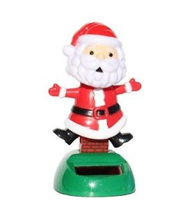 2014 New Version ~ Santa Claus on the Chimney Christmas Solar Toy